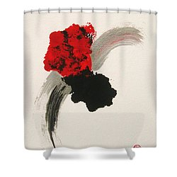 Shower Curtain featuring the painting Maruhanabachi by Roberto Prusso