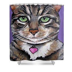 Marvelous Minnie The Gallery Cat Shower Curtain