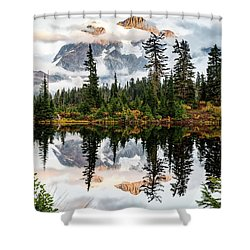 Marvelous Picture Lake  Shower Curtain by Sabine Edrissi