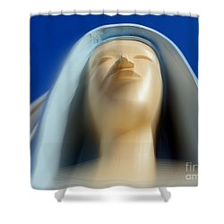 Mary Ascending Shower Curtain by Ed Weidman