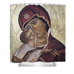 Mary Of Valdamir Shower Curtain by Mary jane Miller