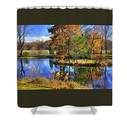 Maryland Country Roads - Autumn Respite No. 1 - Stronghold Sugarloaf Mountain Frederick County Md Shower Curtain by Michael Mazaika