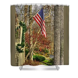 Maryland Country Roads - Flying The Colors 1a Shower Curtain by Michael Mazaika