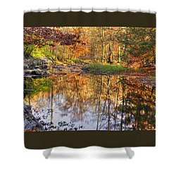 Maryland Country Roads - Moments For Reflection No. 1 - Cunningham Falls State Park Autumn Shower Curtain by Michael Mazaika