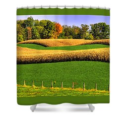 Maryland Country Roads - Swales Shower Curtain by Michael Mazaika