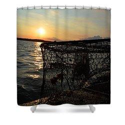 Maryland Crabber's Horizon Shower Curtain
