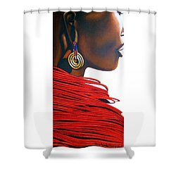 Masai Bride - Original Artwork Shower Curtain