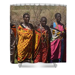 Masai Women Chorus Shower Curtain by Tom Wurl