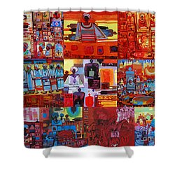 Maseed Maseed 4 Shower Curtain by Mohamed Fadul