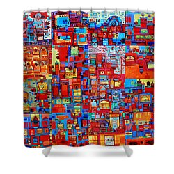 Maseed Maseed Shower Curtain by Mohamed Fadul