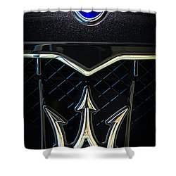 Maserati Badge Shower Curtain