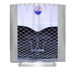 Maserati Emblems Shower Curtain