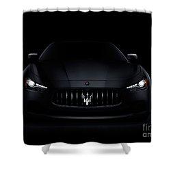 Maserati Ghibli S Q4 Luxury Car On Black Shower Curtain