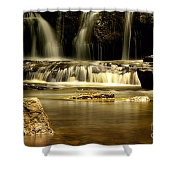 Mash Fork Falls Shower Curtain