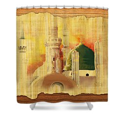 Masjid E Nabwi 02 Shower Curtain by Catf