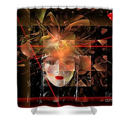 Mask 0145 Marucii Shower Curtain