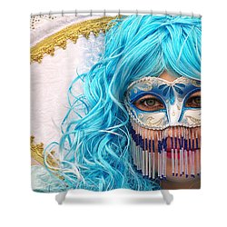 Mask Shower Curtain by Ivan Slosar