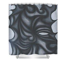 Mask Shower Curtain by Jamie Lynn