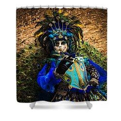 Mask Portrait I Shower Curtain