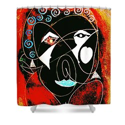 Masked Abstract Shower Curtain