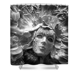 Masked Angel Shower Curtain