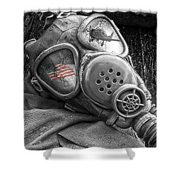 Masked Freedom Shower Curtain