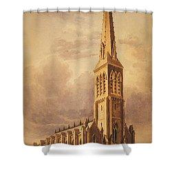 Masonry Church Circa 1850 Shower Curtain by Aged Pixel