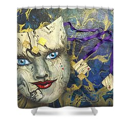 Masquerade Blues Shower Curtain