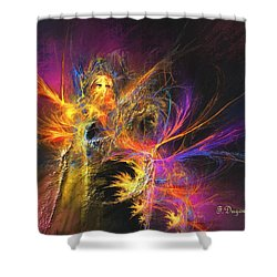 Masquerade Shower Curtain by Francoise Dugourd-Caput
