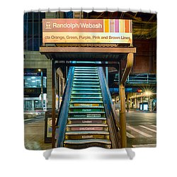 Mass Transit Shower Curtain by Sebastian Musial