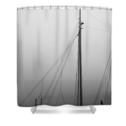 Mast And Rigging Shower Curtain by Bob Orsillo