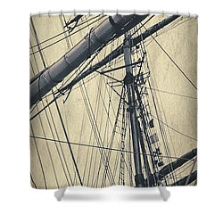 Mast And Rigging Postcard Shower Curtain