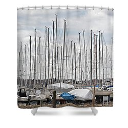 Glen Cove Mast Appeal Shower Curtain