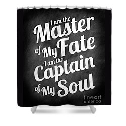Master Of My Fate - Chalkboard Style Shower Curtain