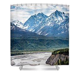 Matanuska River  Shower Curtain by Andrew Matwijec