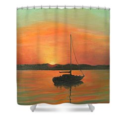 Matanzas Bay Sunrise Shower Curtain