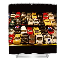 Allied Matchbox Cars  Shower Curtain