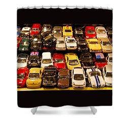 Allied Matchbox Cars  Shower Curtain