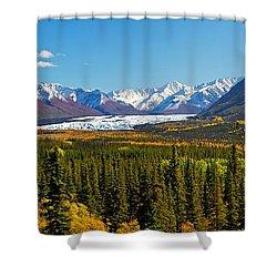 Matenuska Fall Shower Curtain by Ed Boudreau