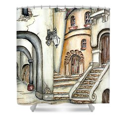 Matera Shower Curtain by Pamela Allegretto