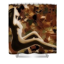 Material Woman Shower Curtain by John Malone
