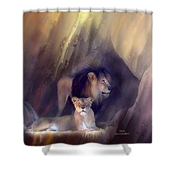 Mates Shower Curtain by Carol Cavalaris
