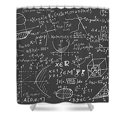 Maths Blackboard Shower Curtain