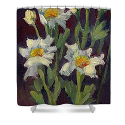 Matilija Poppies Shower Curtain