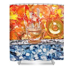 Shower Curtain featuring the painting Matinal by Evelina Popilian