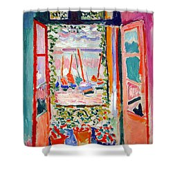 Matisse's Open Window At Collioure Shower Curtain by Cora Wandel