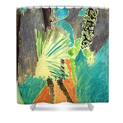 Matisse's Palm Leaf In Tangier Shower Curtain by Cora Wandel