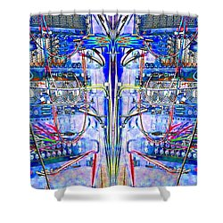 Matrix Blues Shower Curtain