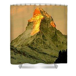 Matterhorn In Switzerland Shower Curtain