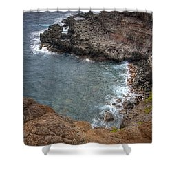Shower Curtain featuring the photograph Maui Cliff by Bryan Keil